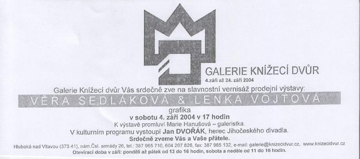 Věra Sedláková&Lenka Vojtová - grafika