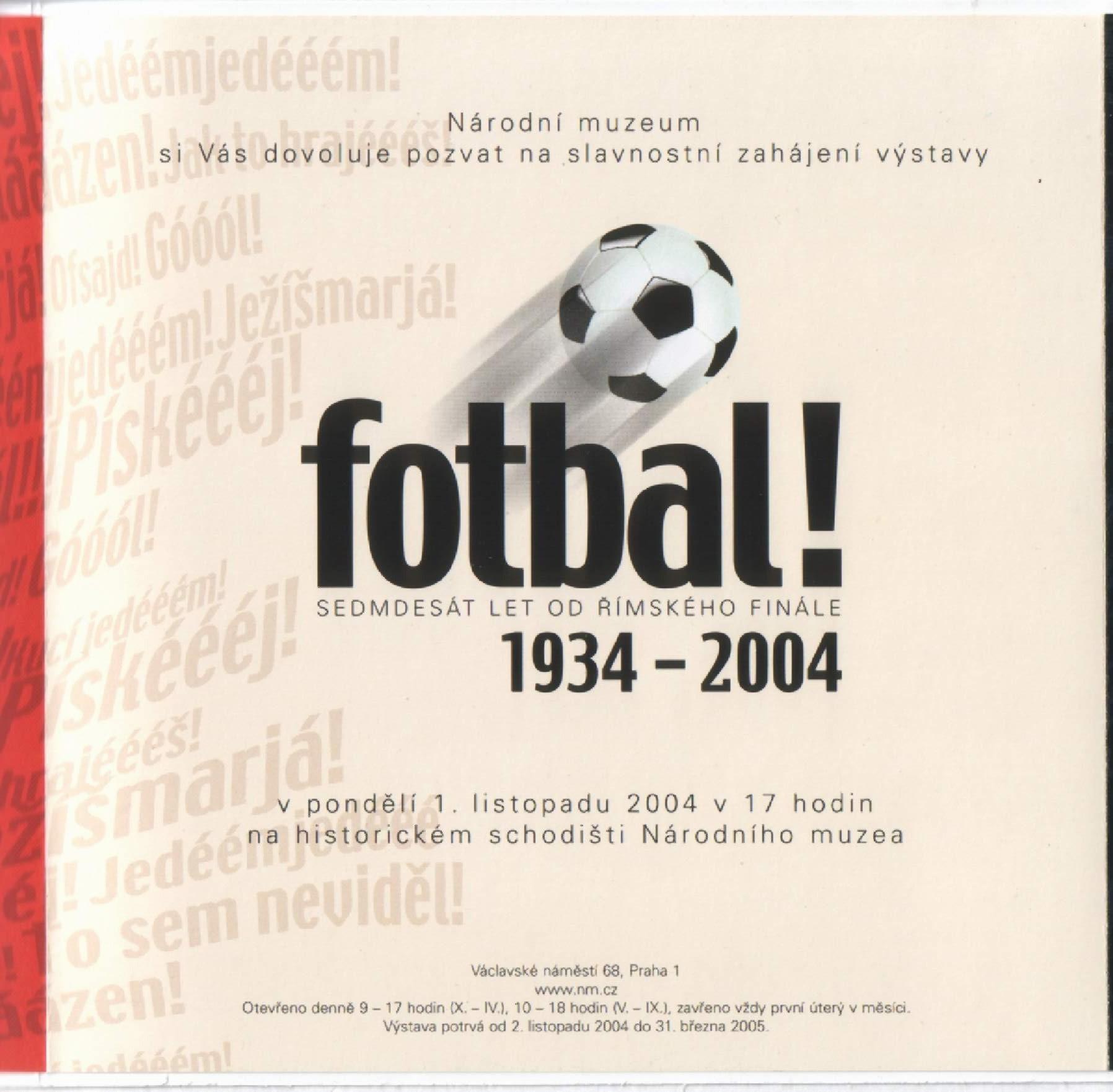 Fotbal od roku 1934 - 2004