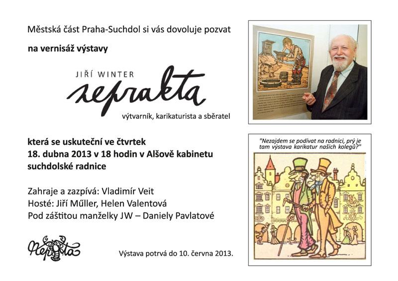 Vernisáž výstavy - Jiří Neprakta