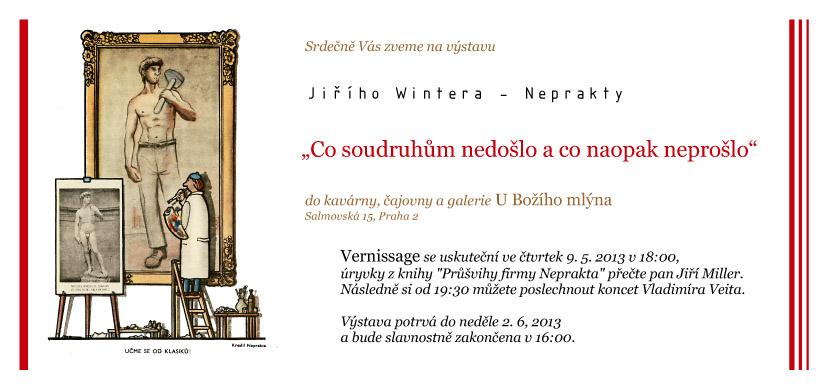 Výstava J. Wintera - Neprakty: Co soudruhům nedošlo a co naopak neprošlo
