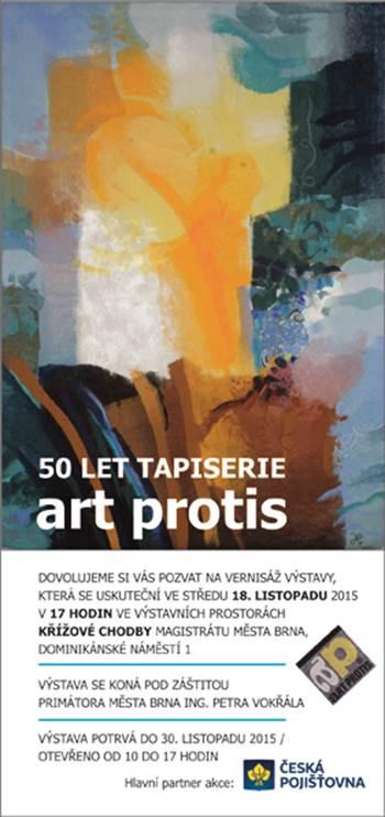50 LET TAPISERIE ARTPROTIS; ANNA HLUŠIČKOVÁ – TAPISERIE, ART PROTIS, AKVARELY