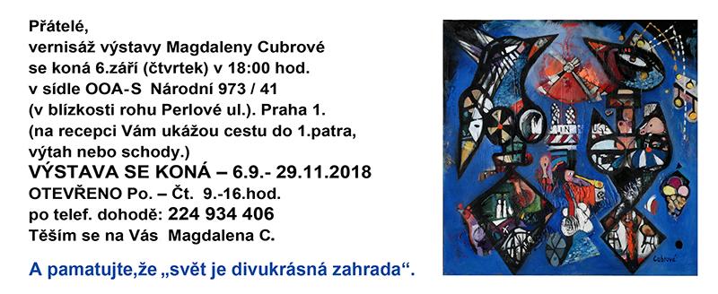 Vernisáž výstavy Magdaleny Cubrové
