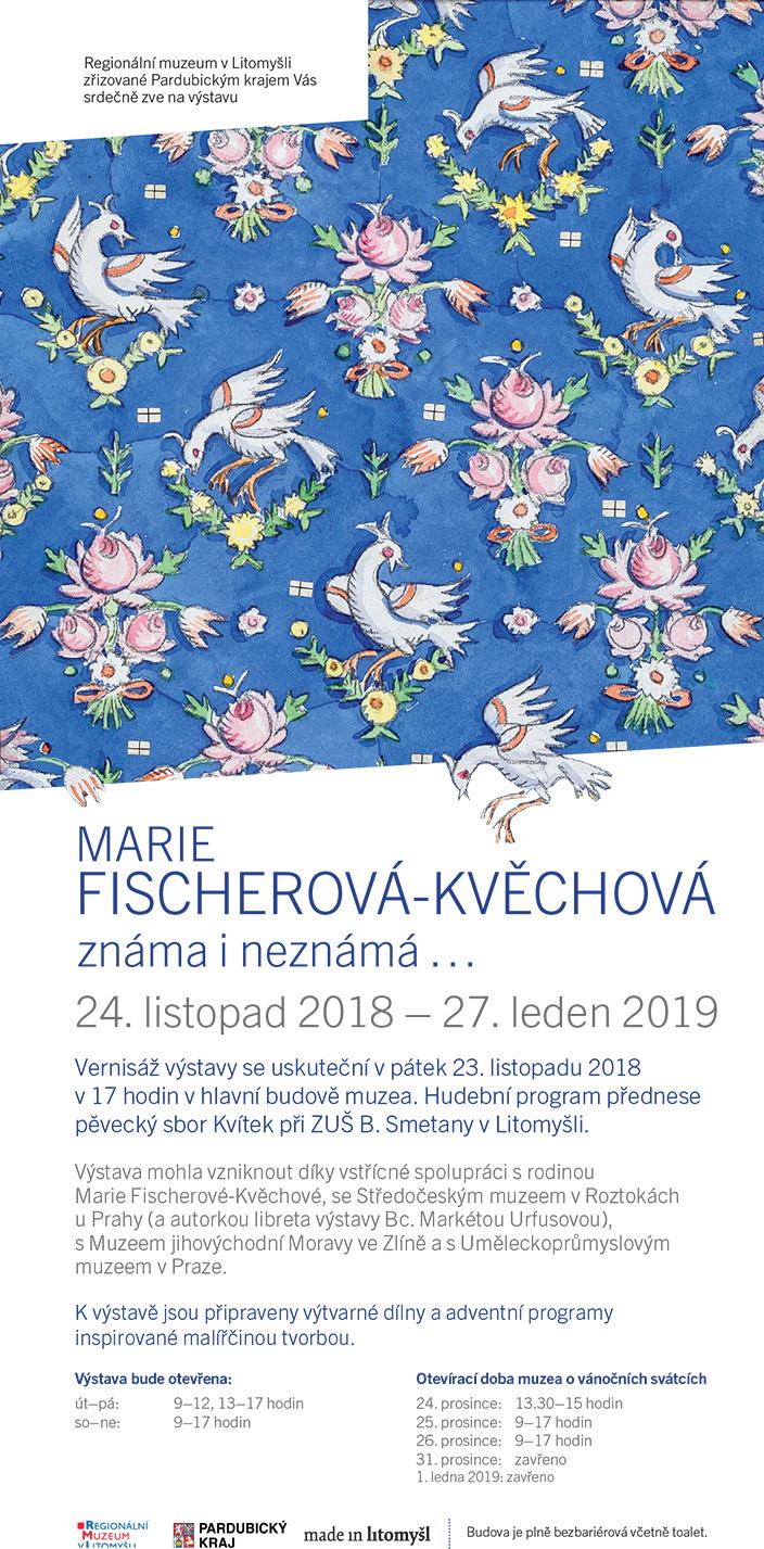 Výstava originálů a kreseb z díla malířky a ilustrátorky paní Marie Fischerové Kvěchové