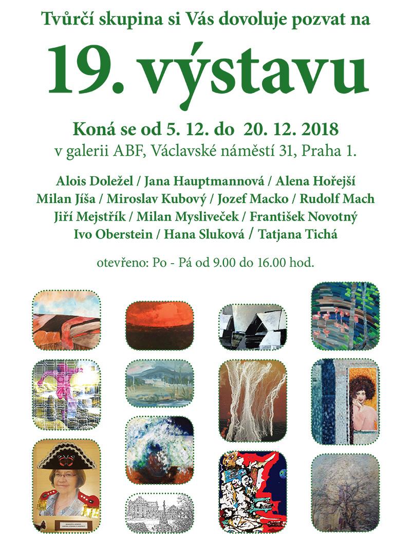 19. výstava Tvůrčí skupiny v galerii ABF