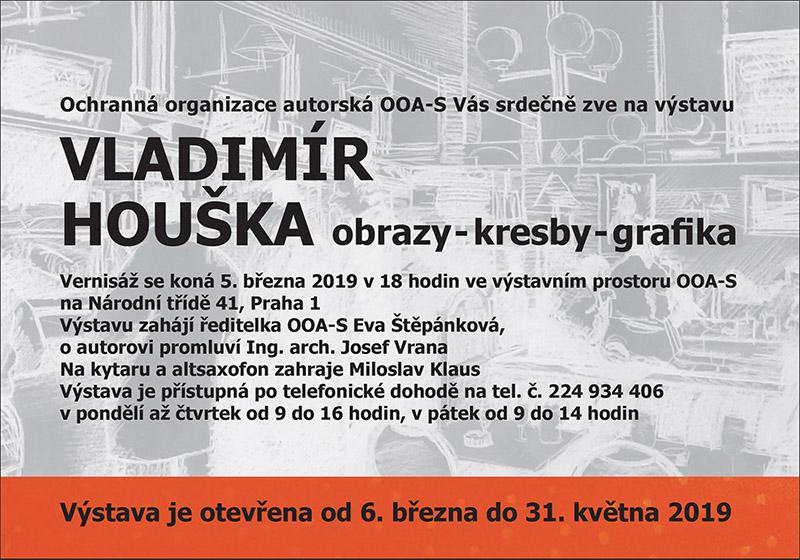 Vernisáž grafika Vladimíra Houšky