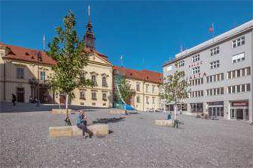 Vodní prvky na Dominikánském náměstí v Brně